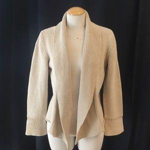 EILEEN FISHER Cream Silk/Cotton Cardigan/S